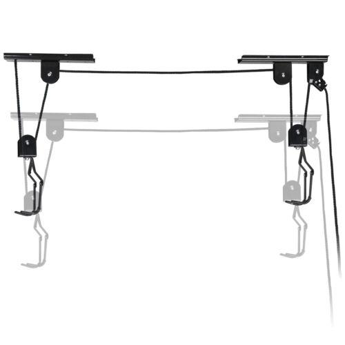 Heavy Duty Bike Hoist Pulley Lift Garage Ceiling Storage Rack W/ Safety Lock Home & Garden