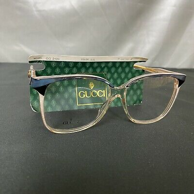 Authentic GUCCI - Rare Vintage Blue Vtg EYEGLASSES - GG 2106 - Made in Italy