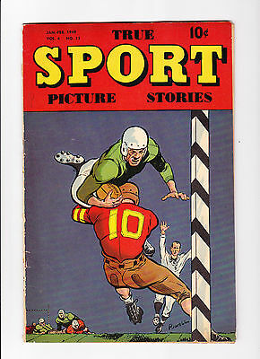 True Sport Picture Story   Vol.4  No.11     :: 1949 ::      :: Football Cover ::