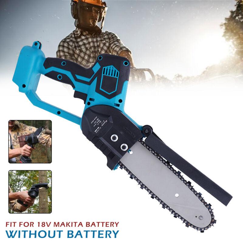 Elektro Kettensäge Motorsäge Baumsäge Einhandsäge Astsäge für Makita 18V Blau