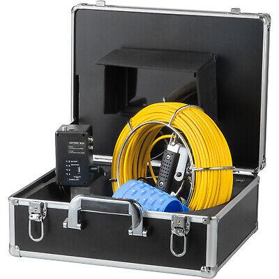 7 Lcd Pipe Inspection Pipeline 50m Drain Sewer Waterproof Camera 16g Wkeyboard