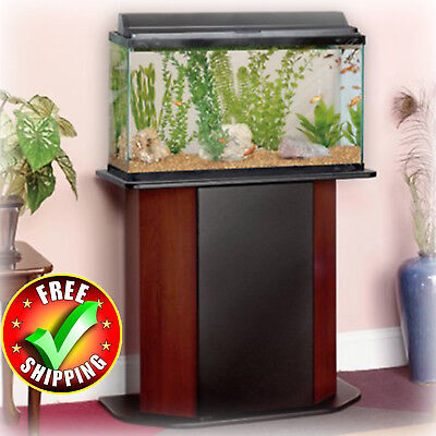 Aquarium Stand 20-29 Gallon Tanks Cabinet Concealed Storage Furniture Black New