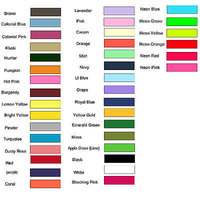 2 inch grosgrain ribbon 10 yds plus matching 3/8 you pick colors Lot -