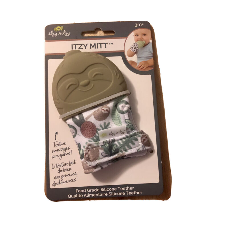 Itzy Ritzy Silicone Teething Mitt Soothing Infant Teething Mitten 3mo + NEW