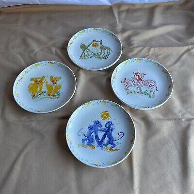 Retired Tiffany & Co Jungle Animal Child's Plate Set 2002