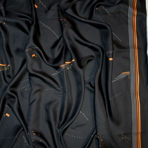 Dries Van Noten authentic pure silk twill fabric Geometric print Made in Italy.