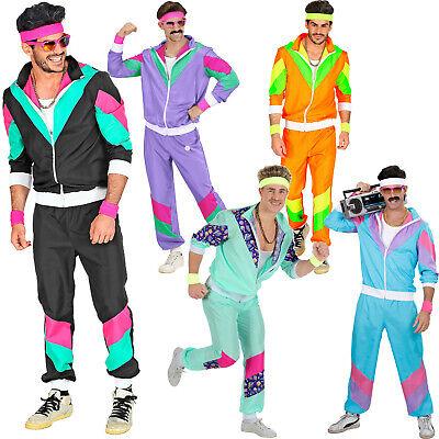 80er Jahre Retro Trainingsanzug Proll Jogginganzug Kostüm Verkleidung Karneval