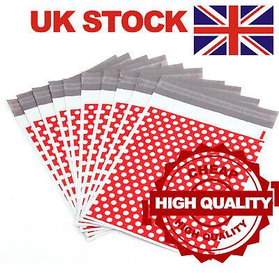 100 Postage Postal Royal Mail Parcel Mailing Bag Mail Envelope Mailer 10x14 Red