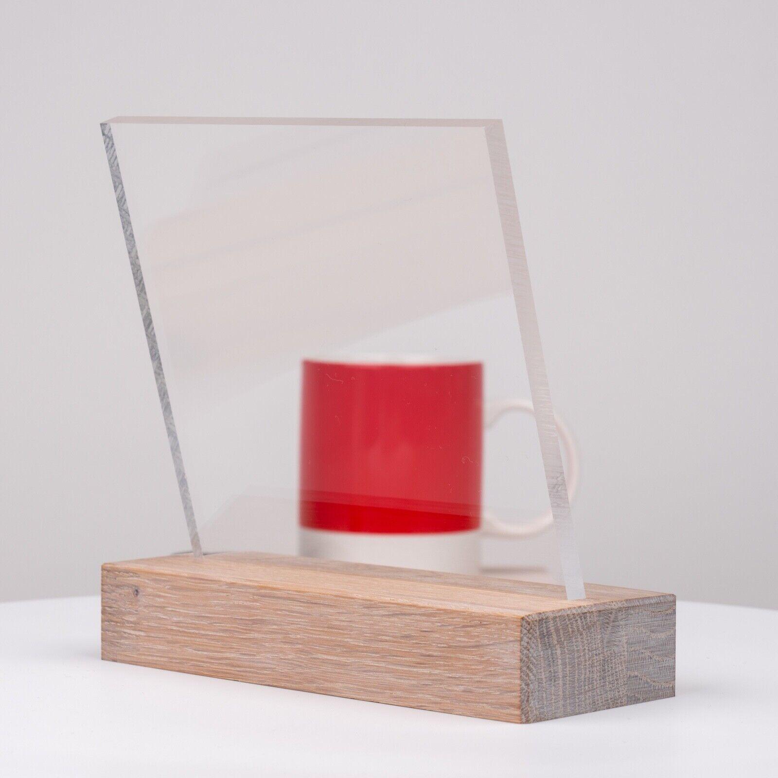 UV-Stabil DOLLE Acrylglas XT PMMA | F/ür Innen und Au/ßen Glasklare Platte in 250 x 250 mm Zuschnitte |St/ärke 10 mm Kanten unbearbeitet