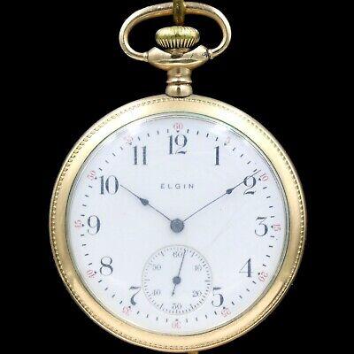 Gold 1906 ELGIN Mechanical Pocket Watch Grade 291 7 Jewels Large 16s Antique USA
