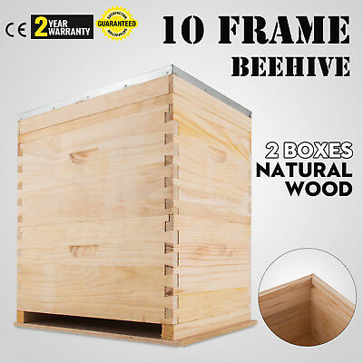 No Frame Double Beehive 2 Layers Brood Bee Box Nz Pine Bee Hive Honey Bee