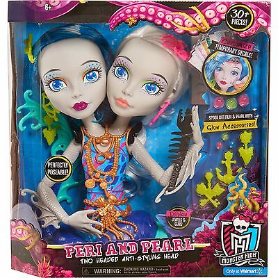 Buy Monster High (Monster High Peri and Pearl Styling Head Girls Practice Hair Doll Braiding)