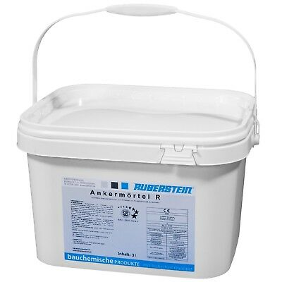 Ruberstein®Ankermörtel R sulfatbeständig 2K, 6 kg zum Einbetten der Spiralanker  (Spiral-anker)