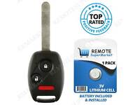Ridgeline 06-14 Odyssey 05-10 Replacement Remote Key Fob for Honda Fit 2008