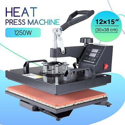 Heat Press Machine 360 Swing Away Digital Sublimation T-shirt Pad 12x15