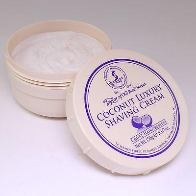 Taylor of Old Bond Street Coconut Luxury Shaving Cream 150g, -