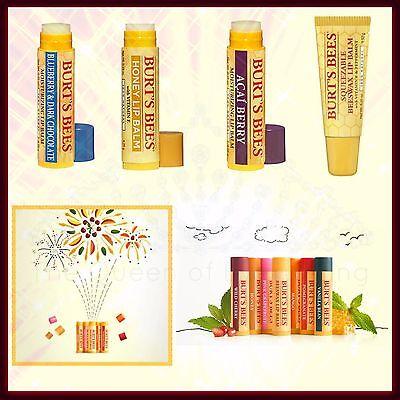 Burt's Bees Beeswax Lip Balm Many Formulas & Flavors! Best Stocking Stuffer