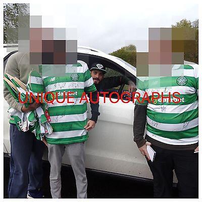 Celtic Signed 2016/17 Shirt, 16+, Brown,  Dembélé, Gordon, Rodgers, Proof, 2