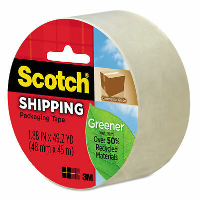 Greener Commercial Grade Packaging Tape, 1.88 x 49.2 yds, 3 Core