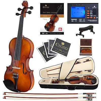 Cecilio CVN-300 Ebony Fitted Violin 4/4 3/4 1/2 1/4 1/8
