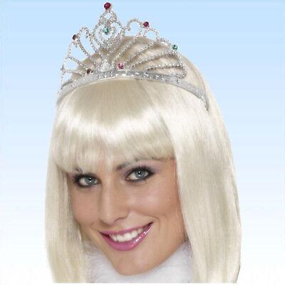 Krone Königin silber Diadem Kopfschmuck Prinzessin Modeschmuck Königskrone