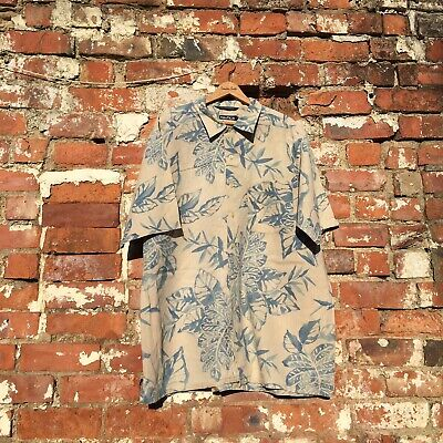 Vintage Retro Nautica Summer Short Sleeve Shirt Cool Pattern Size Extra Large