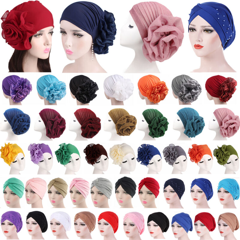 Turban Haarband Haarschmuck Kopfbedeckung Chemo Mütze Damen Hut Hijab Kopftuch