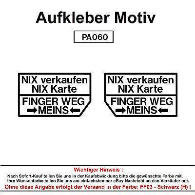 Lustige Aufkleber (Nix verkaufen - Autoaufkleber Aufkleber Fun Spaß Sticker Tuning Lustige Sprüche)