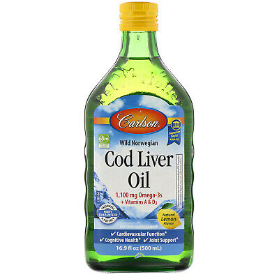 Carlson Labs  Wild Norwegian Cod Liver Oil  Natural Lemon Flavor  16 9 fl oz