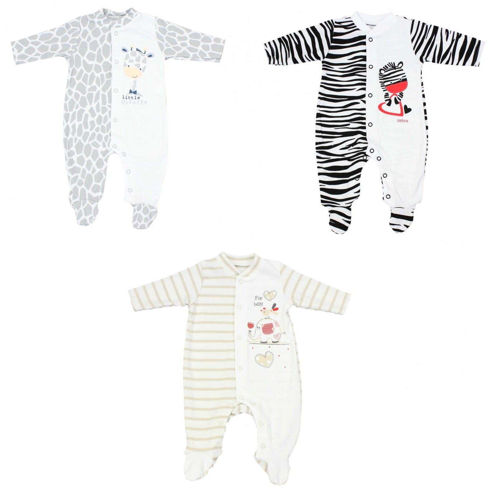Baby Schlafanzug Strampelanzug Mädchen Schlafoverall Jungen Schlafstrampler