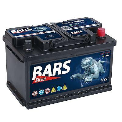 E 1 Batterie (Autobatterie BARS 12V 75Ah Starterbatterie WARTUNGSFREI TOP ANGEBOT NEU)