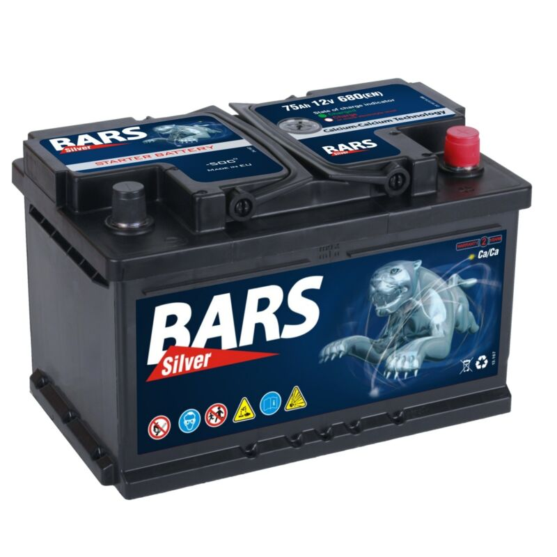 Autobatterie BARS 12V 75Ah Starterbatterie WARTUNGSFREI TOP ANGEBOT NEU