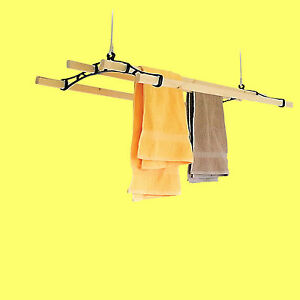 4-Lath-Victorian-Kitchen-Ceiling-Pulley-Clothes-Airer-Maid-Laundry-Dryer-Rack