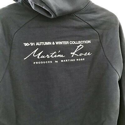Martine Rose Script Logo Hoody Collection Sweatshirt Navy Dover Street Market