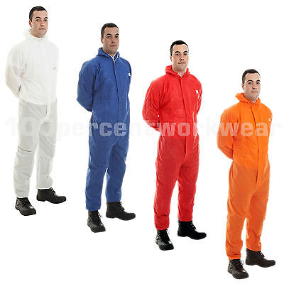 Sms Disposable Overall Coverall Hooded Suit Type 5 6 Protection Hygiene Paint