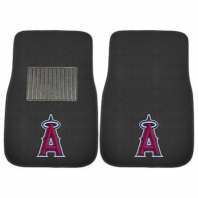 Los Angeles Angels 2 Piece Embroidered Car Auto Floor Mats -