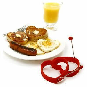 NORPRO-999r-RED-SILICONE-HEART-PANCAKE-and-EGG-RINGS-2-piece