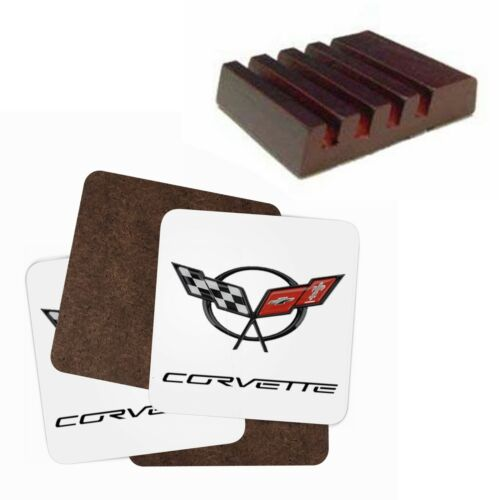 Corvette Coaster Set With Stand