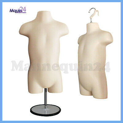 One Toddler Mannequin Dress Form Flesh -hollow Back With Metal Base Hanger