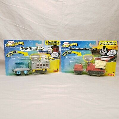 Set of 2 Thomas & Friends Adventures Talking Metal Engines Salty and James New