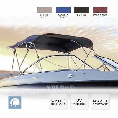 Premium Boat Bimini Top Canopy, 3 Bow, 120cm - 210cm Wide. Select Colour & Size.