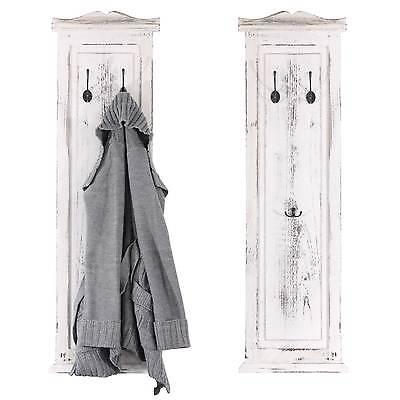2x Garderobe Wandgarderobe Wandhaken 109x28x3,5cm, Vintage weiß, Shabby-Look