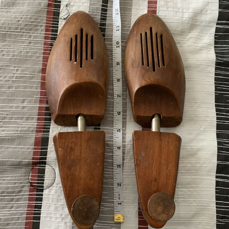 Men's Wooden Shoe Stretcher Lot Of 4 Florsheim Travel Tree Shoe Keepers