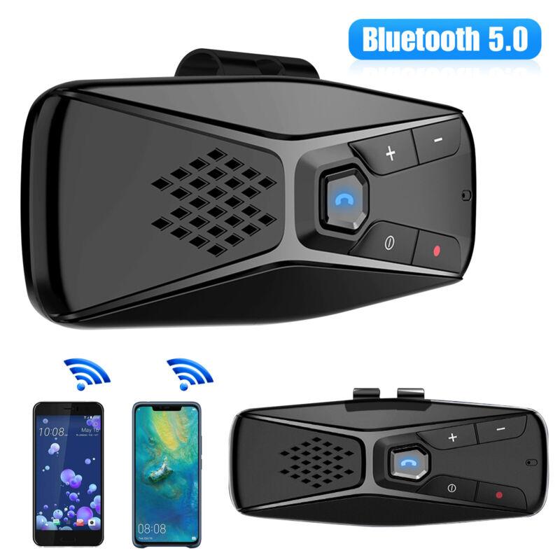 Wireless Multipoint Bluetooth 5.0 Hands Free Car Kit Speakerphone Speaker Visor