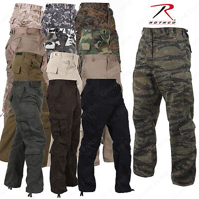 Mens Fatigue Pants - Rothco Men's Vintage Paratrooper Fatigues - Military Style Camo Cargo Pants