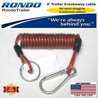 Trailer breakaway cable 4 all trailer w electric brakes Coiled cable wont drag