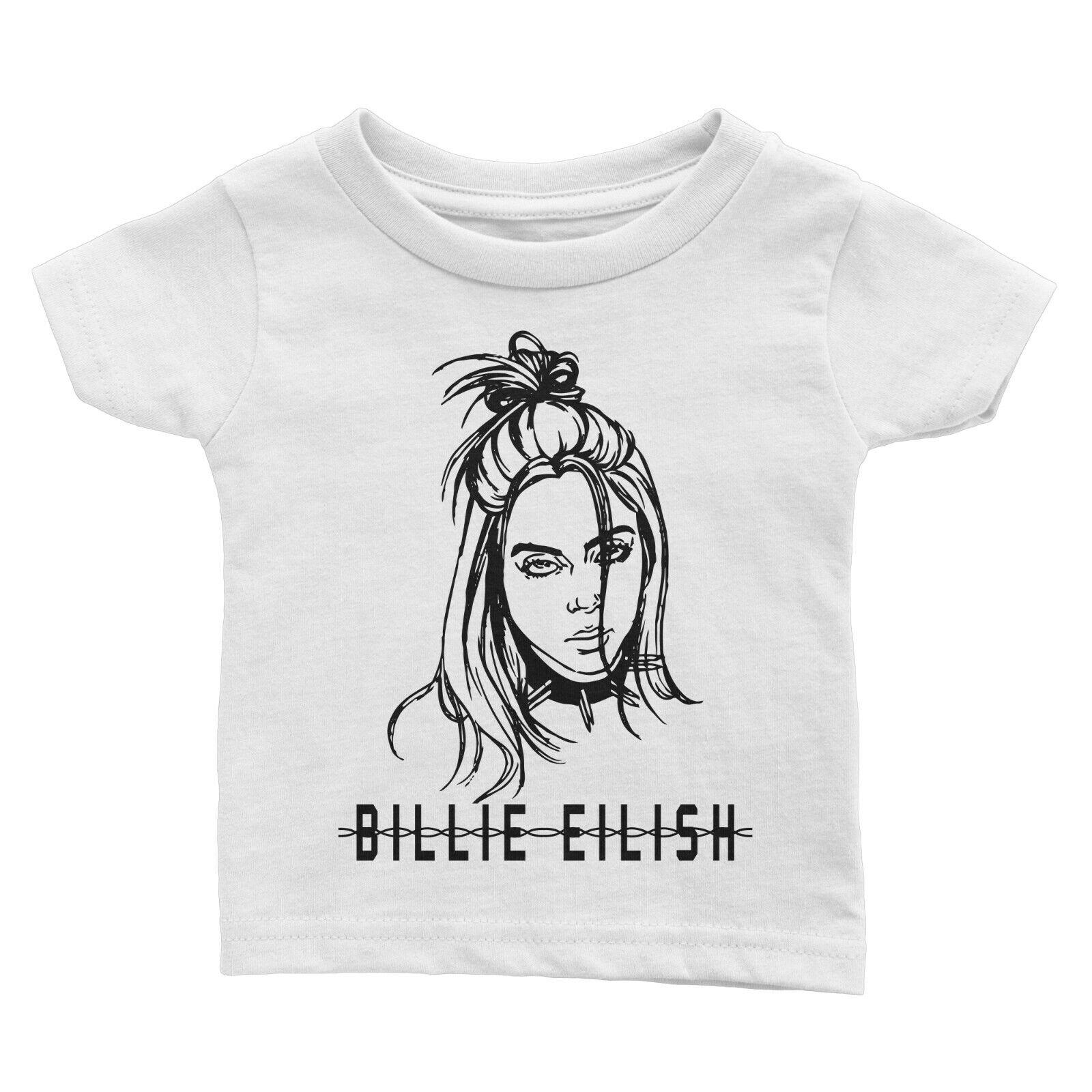 billie eilish 3D print kids T-shirts girls boy unisex hip hop streetwear G85