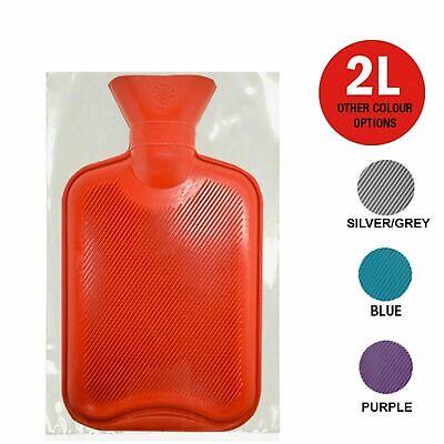 Natural Rubber Hot Water Bottle British Standard 2 Litre Large Winter Warmer