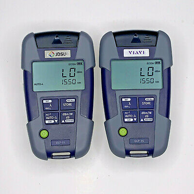 Pair Of Jdsu Viavi Olp-35 230212 Fiber Optic Power Meter