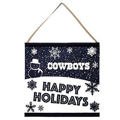 Dallas Cowboys Happy Holidays Banner Sign Christmas Wall Door Decoration](Dallas Cowboy Decorations)